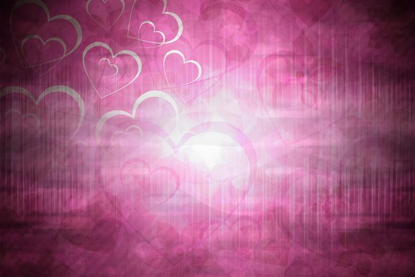 Valentines Background 2011: Pink or blue Valentine's Day Background