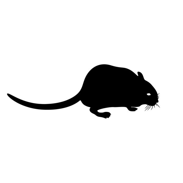 silhouette gerbil: I love my pets :-)