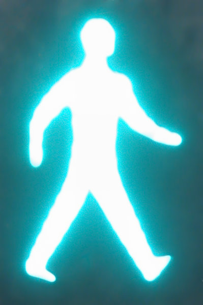 abstract pedestrian walk figur: abstract pedestrian walk figurine