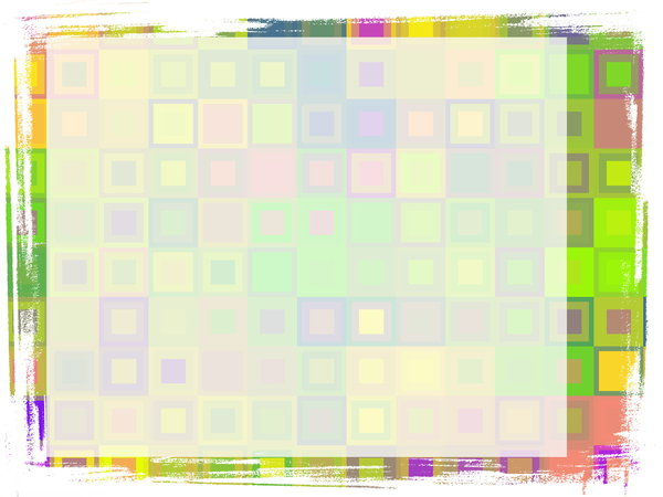 Cheerful Grungy Banner 1: A cheerful and eyecatching grunge banner with a rough edge and a pattern of squares in various colours. Plenty of copyspace to write your message.