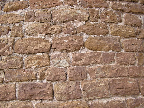 Brick wall: A centuries old wall.Inowlodz, Poland.