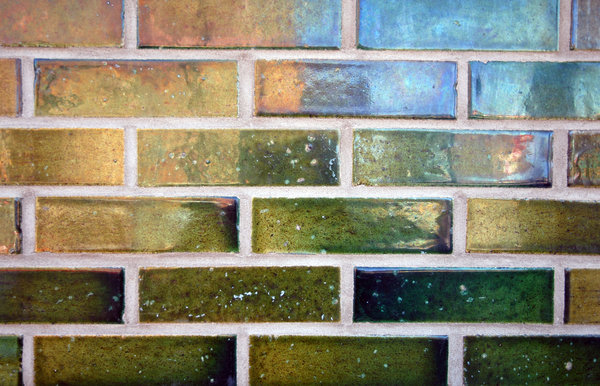 Glazed Bricks: Glazed bricks on a building.