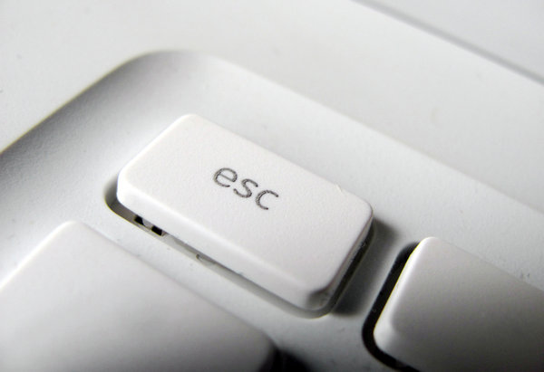 escape 2: escape key of an apple ibook closeup