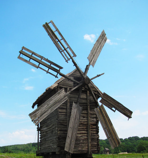 Old Windmill 3: old windmill at pirogovo outdoor museum (ukraine)