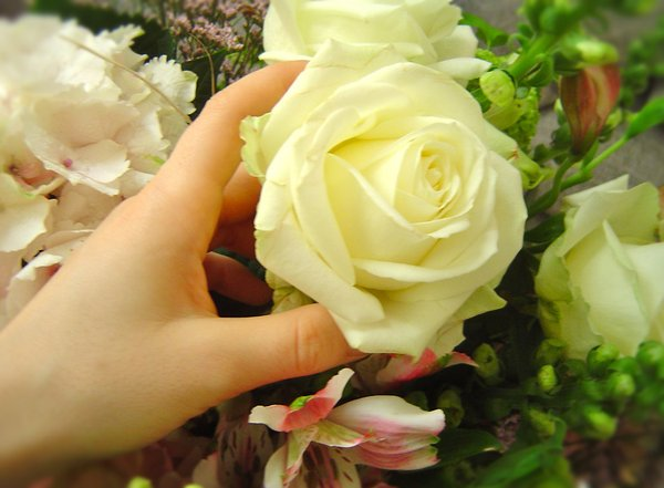 Huge flower bouquet 4: Great bunch of white/pink flowers