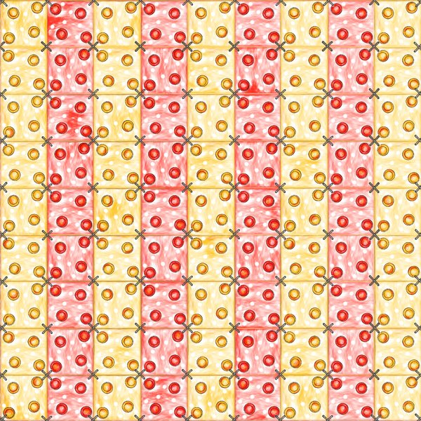 Patchwork: yellow and red patckwork illustration