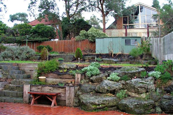 Suburban Backyard Landscaping : suburban backyard hillside subruban backyard garden