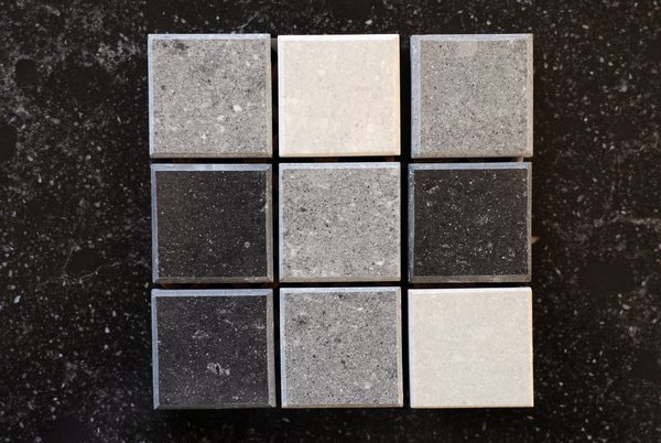 tiles: new tiles, black and gray