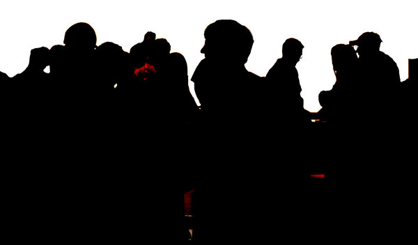 Crowd silhouette: Just a crowd