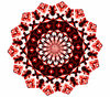 Christmas red mandala