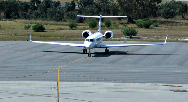 small & fast: parked low passenger capacity business jet