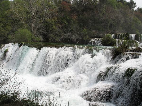 river krka waterfalls: none