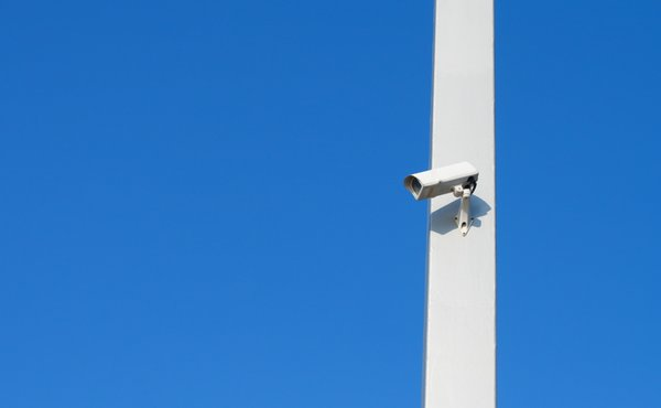 Security: A camera in the harbour of Barcelona