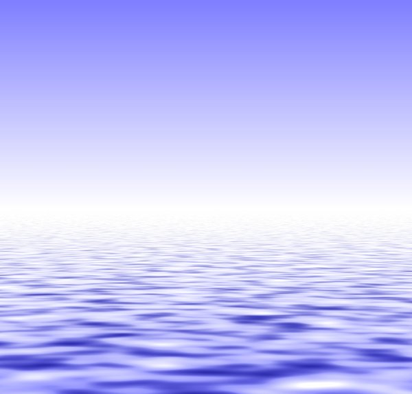 Water and Sky: A watery horizon.