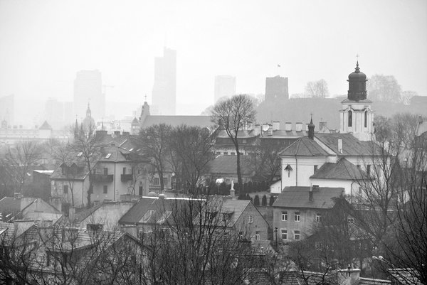 City panorama: Panorama of Vilnius old city.