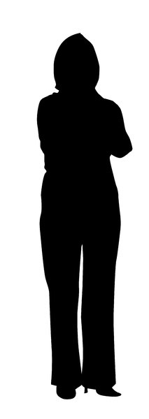 Man standing: A silhouette