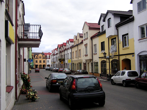 Town's street: A street in Łowicz.