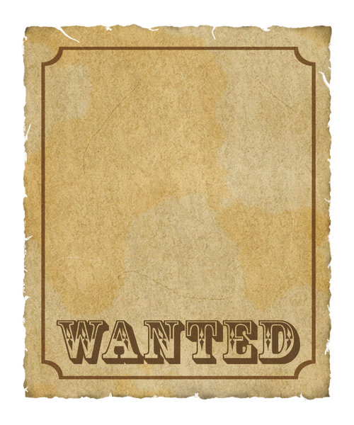 free blank wanted template .