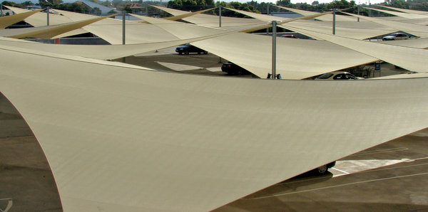 rooftop sails: shelter sails on rooftop carpark