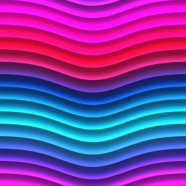 Wavy Lines 2: Bright multicoloured wavy lines in pinks, blues and aqua. These attention getting textures are suitable for backgrounds, fills, and design elements.