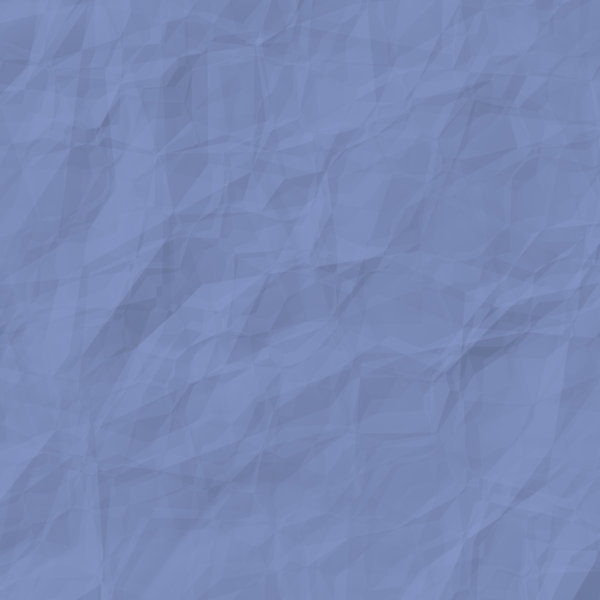 Crumpled Coloured Paper Blue: A square piece of blue crumpled, wrinkled paper suitable for a great background, texture, fill, or design element.