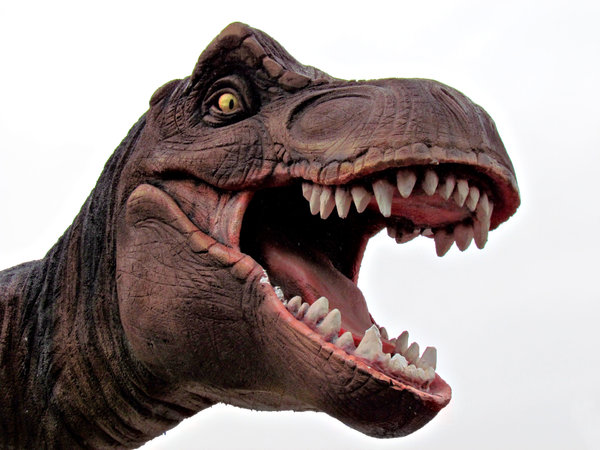 T-Rex: public dinosaur display figure
