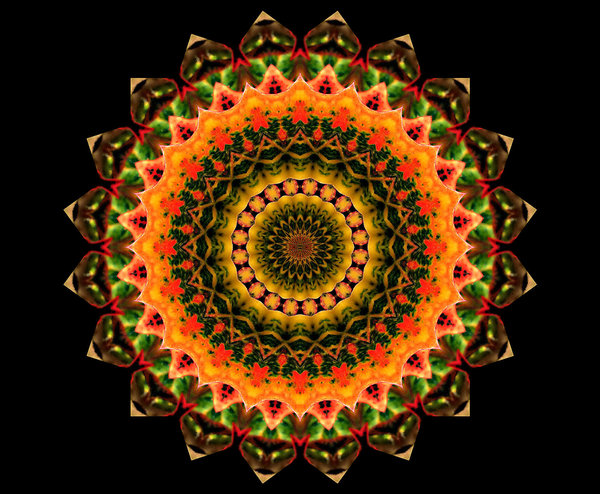 layered golden glow mandala: abstract backgrounds, textures, patterns, geometric patterns, kaleidoscopic patterns, circles, shapes and perspectives from altering and manipulating image