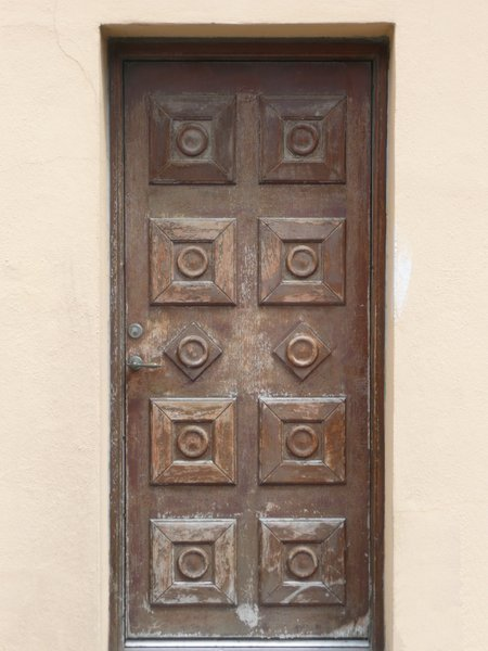 Wooden door with pattern: Wooden door with pattern