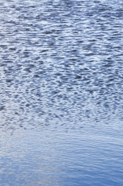 Rippled water: blue rippled water surface