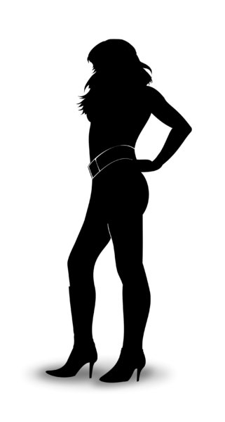 Woman's silhouette: pose of woman