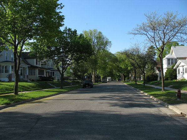 residential street: a residential street in south minneapolis.