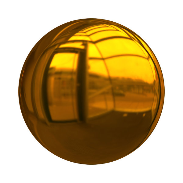 Christmas Baubles 3: Decorative Christmas bauble or ball in yellow gold with a shiny and reflective surface. Could be used as a button also,