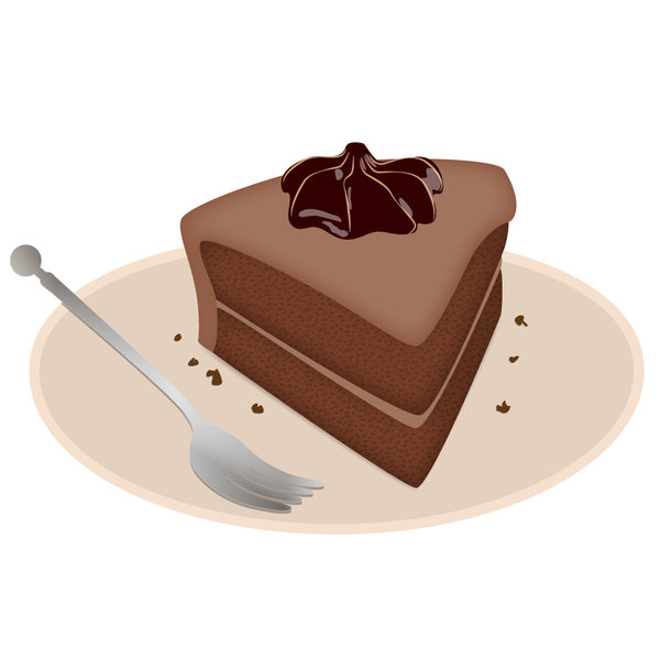 Chocolatecake: delicious chocolatecake on a plate with fork
