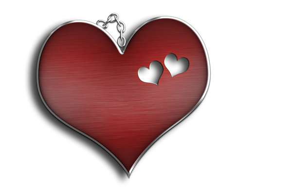 Love, love, love: Heart pendant illustration