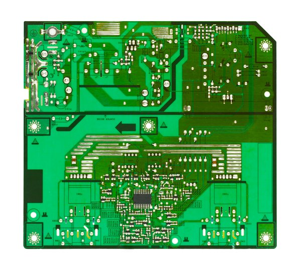 Printed Circuit Board: A circuit board from a computer monitor.