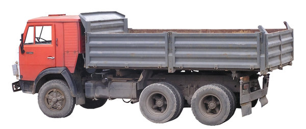 Dump truck: A truck used for sand transport (or any other loose material)