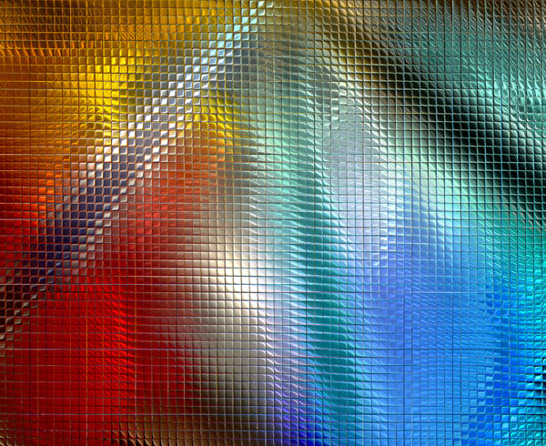 Metallic Squares: Shiny rainbow coloured metallic texture. Vivid and pleasing to the eye. Great texture, fill, background.