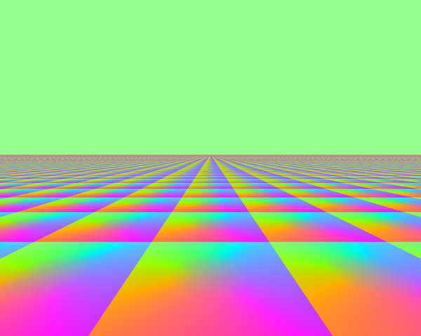 Infinite Perspective 2: A fantasy background with a horizon stretching off into an infinite distance. Bright, vivid pastels colours. Useful for children's illustrations, advertisements, covers, etc. Lots of copyspace.