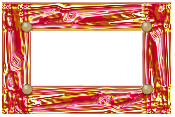 Yellow and pink shiny border: sugar work illustration