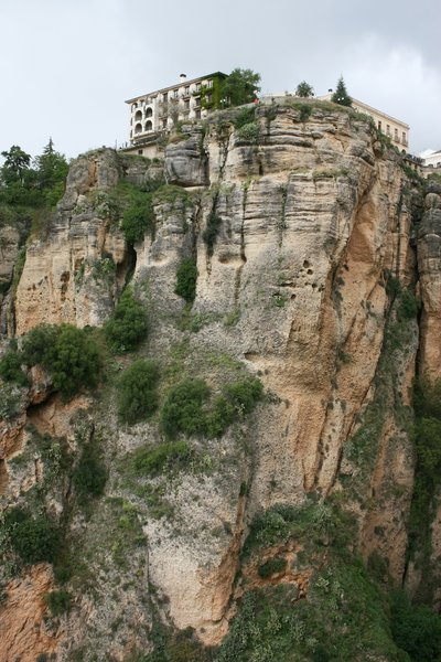 Cliffs at Ronda: Cliffs at the ancient town of Ronda, Spain.