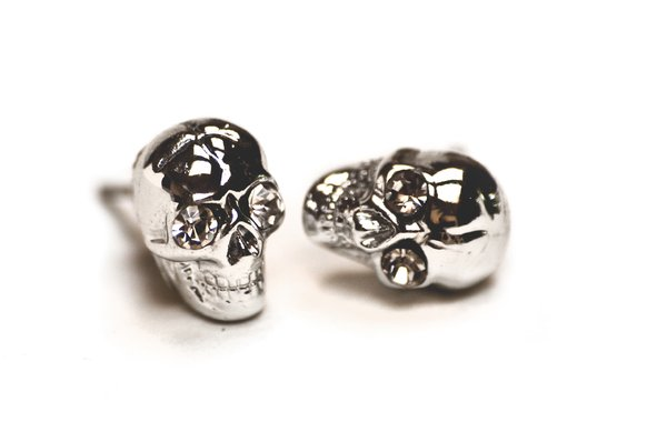 Skull earrings: Silver skull earrings with diamonds in their eyes. I really like those myself! Bought in Italy.