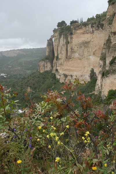 Spanish cliffs: Cliffs at Ronda, Spain.
