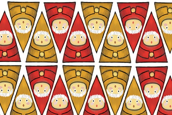 Gnomes for Christmas: Gnomes for Christmas illustration