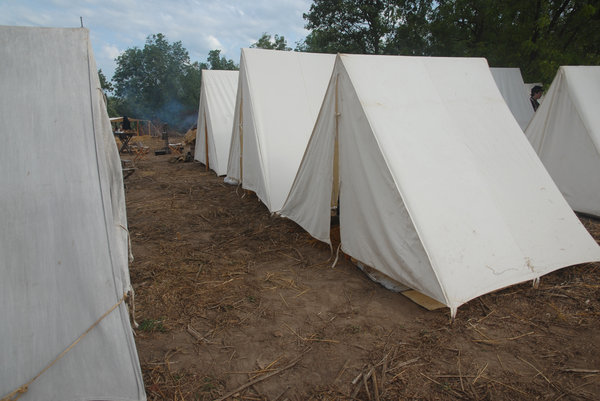 Encampment: An encampment at a Civil War reenactment.