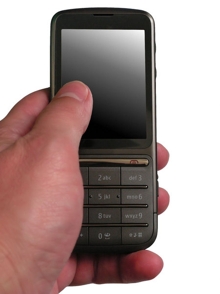 Touchscreen phone: You can put something on the screen