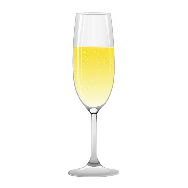 Champagne Glass: Champagne glas on the white background