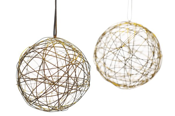 Christmas baubles: Golden baubles