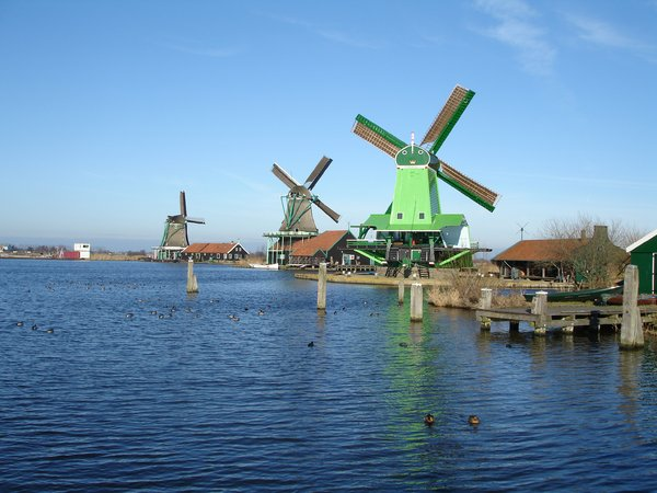 zaanse schans, holland: the Zaanse Schans in the Netherlands