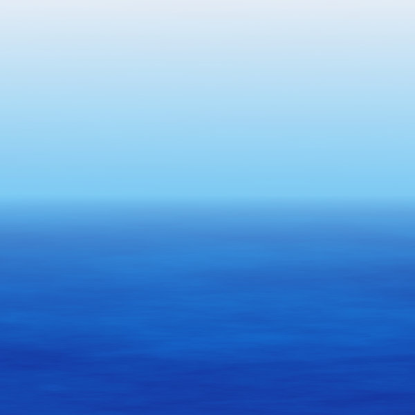Watery Horizon 2: A warm blue seascape background in colours of blue and white. Lots of copyspace, and would make an excellent backdrop.