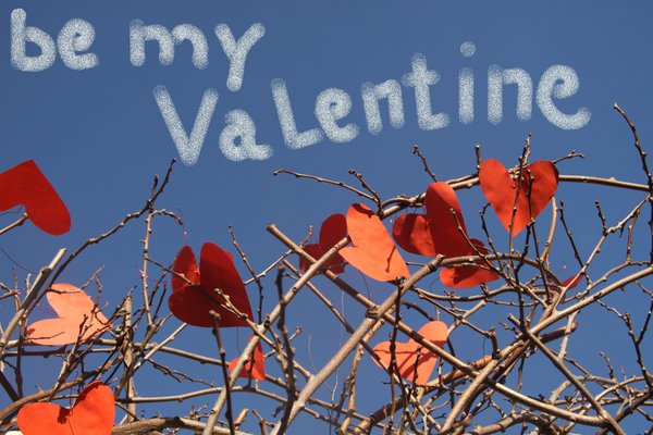 Be my valentine: Valentine's day greeting